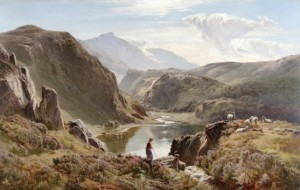 View of Cader Idris, North Wales, 1878, by Sidney Richard Percy