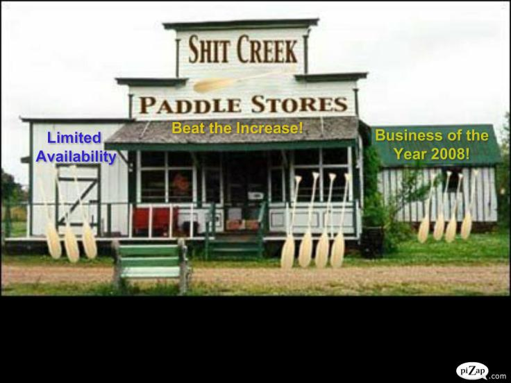 shit creek paddle store